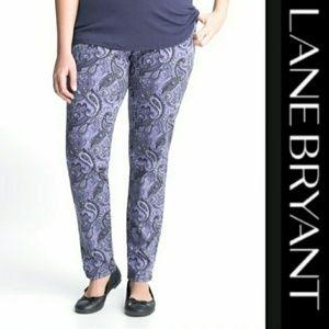 Lane Bryant   Paisley Print Jeans